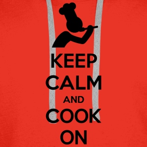 Keep Calm And Cook On Chef T-Shirts - Men's Premium Hoodie
