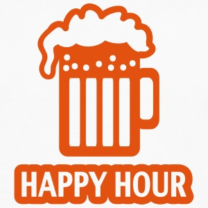 HAPPY HOUR - BEER DRINKING - GLAS  - PATRICK`S DAY T-shirts - Mannen Premium shirt met lange mouwen