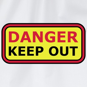 Danger Keep Out Sign Camisetas - Mochila saco