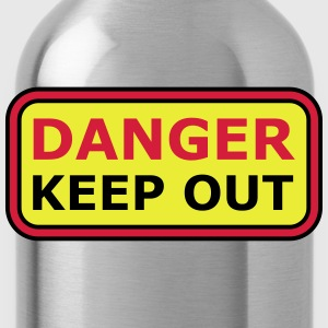 Danger Keep Out Sign T-Shirts - Water Bottle