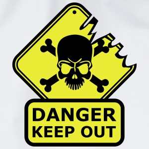 Danger Keep Out Death Sign Camisetas - Mochila saco