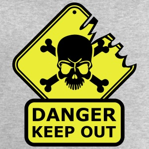 Danger Keep Out Death Sign T-Shirts - Men's Sweatshirt by Stanley & Stella