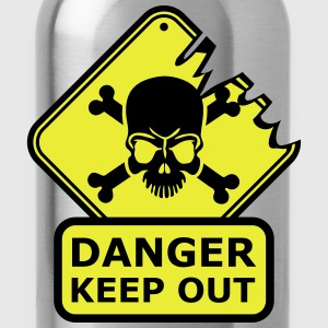 Danger Keep Out Death Sign T-Shirts - Trinkflasche