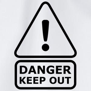 Danger Keep Out Camisetas - Mochila saco