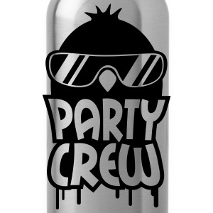 Cool Party Crew Penguin T-Shirts - Trinkflasche