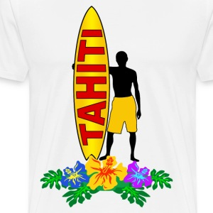 tahiti surfing Long sleeve shirts - Men's Premium T-Shirt