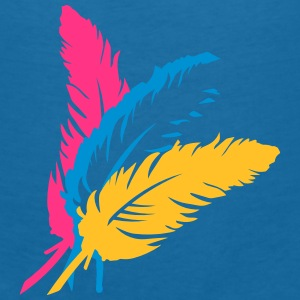Three colorful feathers Accessories - Women's V-Neck T-Shirt