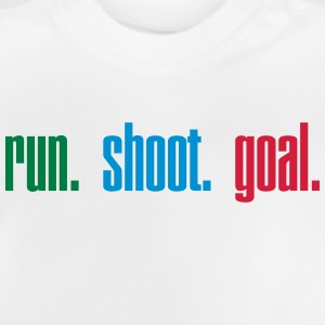 Run. Shoot. Goal.  3c Gensere - Baby-T-skjorte