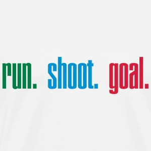 Run. Shoot. Goal.  3c Gensere - Premium T-skjorte for menn