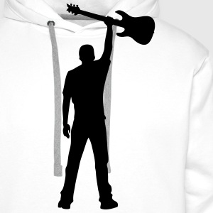 guitar power Long sleeve shirts - Men's Premium Hoodie