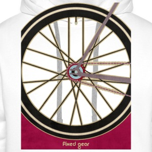 Single Speed Bicycle T-Shirts - Men's Premium Hoodie