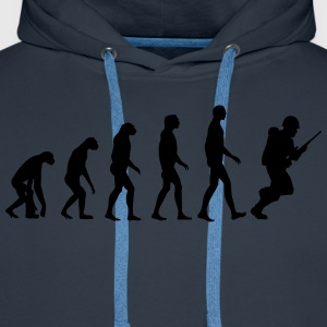soldier evolution Tee shirts - Sweat-shirt à capuche Premium pour hommes