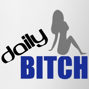 DAILY BITCH T-shirts - Kop/krus
