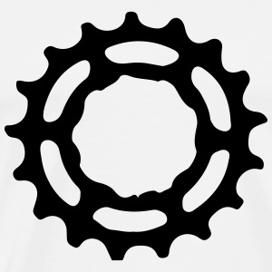 Mountain bike gear sprocket gears 1c.  Aprons - Men's Premium T-Shirt