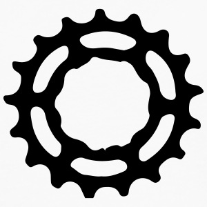 Mountain Bike utstyr sprocket gears 1c Skjorter - Premium langermet T-skjorte for menn