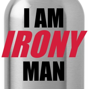 I am IRONY man T-Shirts - Water Bottle