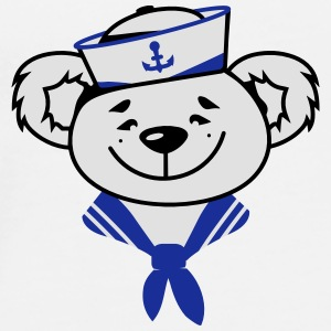 Bear with sailor hat and sailor scarf Buttons - Men's Premium T-Shirt
