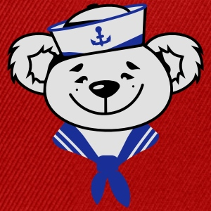 Bear with sailor hat and sailor scarf Shirts - Snapback Cap