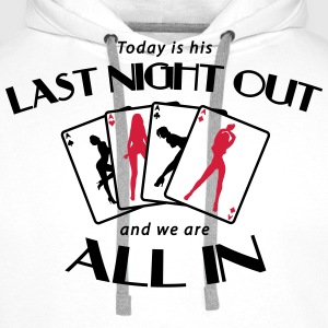 Last Night Out - Stag Night T-Shirts - Men's Premium Hoodie