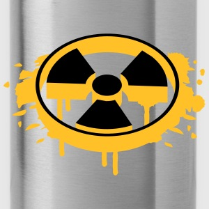 A radioactive sign as a graffiti Bags  - Water Bottle