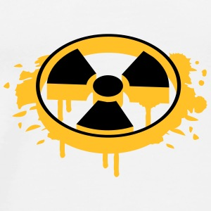 A radioactive sign as a graffiti Caps & Hats - Men's Premium T-Shirt