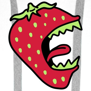 Monster Strawberry T-skjorter - Premium hettegenser for menn