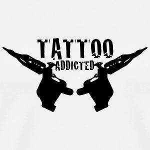 Tattoo Addicted 1c Flasker og krus - Herre premium T-shirt