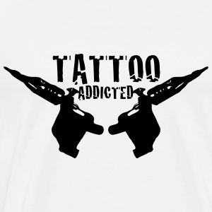 Tattoo Addicted 1c  Aprons - Men's Premium T-Shirt