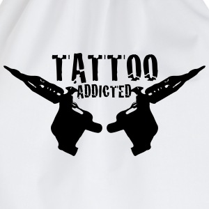 Tattoo Addicted 1c Shirts - Drawstring Bag