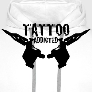 Tattoo Addicted  1c Tee shirts - Sweat-shirt à capuche Premium pour hommes