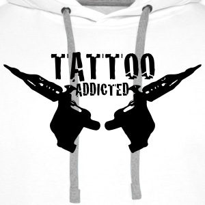 Tattoo Addicted 1c T-shirts - Herre Premium hættetrøje