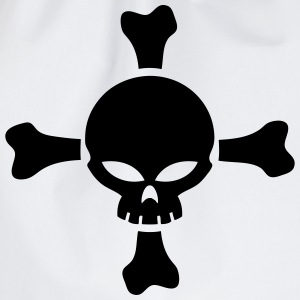 skull and bones vector Long sleeve shirts - Drawstring Bag