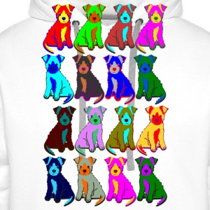 colorful puppies T-shirts - Herre Premium hættetrøje