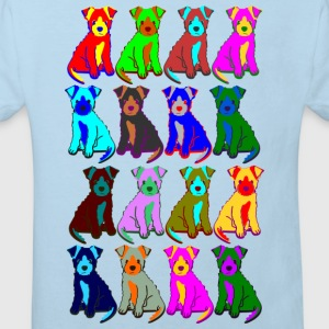 colorful puppies Tröjor - Ekologisk T-shirt barn