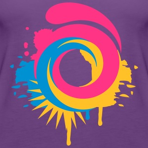 A colorful swirl Shirts - Women's Premium Tank Top