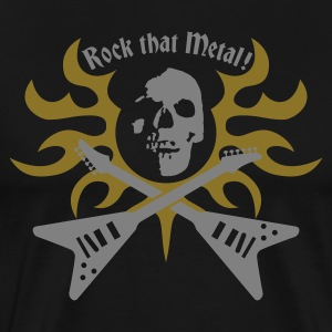 rock_that_metal  Aprons - Men's Premium T-Shirt
