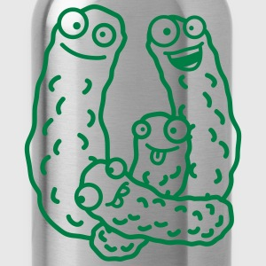 Funny Cucumber Family T-Shirts - Water Bottle