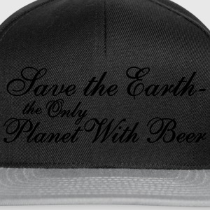 Save the Earth -the Only Planet With Beer T-Shirts - Snapback Cap