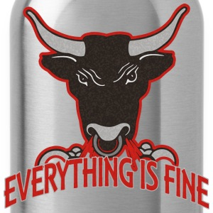 everything is fine - BULL - Trinkflasche