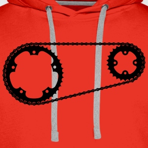 Chainring with chain  T-Shirts - Men's Premium Hoodie