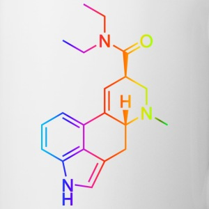 LSD Molecule Colored T-Shirts - Mug