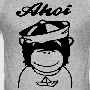 Ahoi Sailor (Pop Chimps) Pullover & Hoodies - Männer Slim Fit T-Shirt
