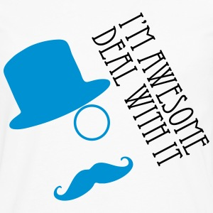 i'm awesome deal with it T-Shirts - Men's Premium Longsleeve Shirt