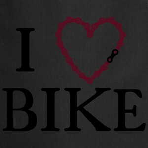 I Heart Love bike chain  T-Shirts - Cooking Apron