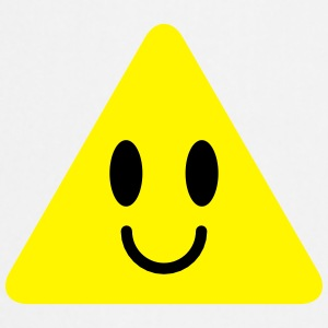 cute funny yellow triangle smiley smiling Bottles & Mugs - Cooking Apron