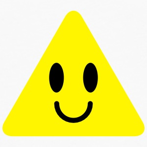 cute funny yellow triangle smiley smiling Bottles & Mugs - Men's Premium Longsleeve Shirt