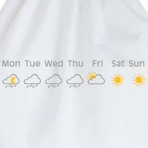 nice weekend weather T-shirts - Gymtas