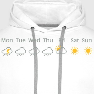 nice weekend weather Tee shirts - Sweat-shirt à capuche Premium pour hommes