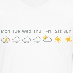 nice weekend weather T-shirts - Herre premium T-shirt med lange ærmer