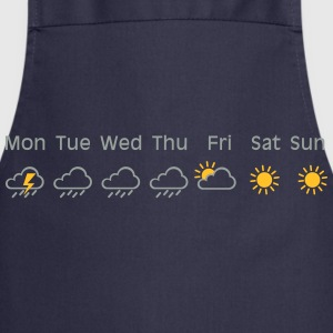 nice weekend weather Camisetas - Delantal de cocina